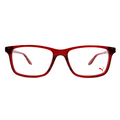 PUMA l 專注視野 威靈頓框眼鏡 l 魅力紅