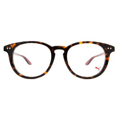 PUMA l 前衛獨特 波士頓框眼鏡 l 玳瑁棕
