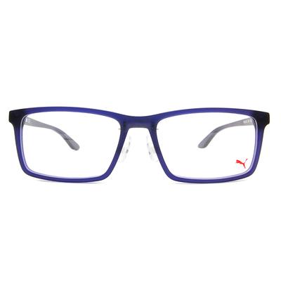 PUMA l 專注視野 方框眼鏡 l 霧灰藍