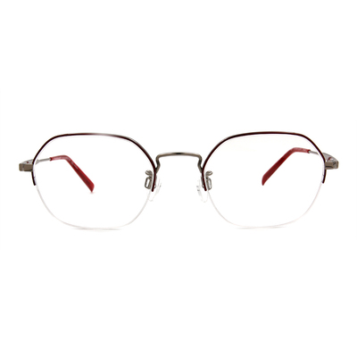 CHARMANT  知性簡約多邊型眉框眼鏡 ▏微醺紅