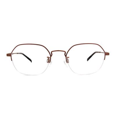 CHARMANT  知性簡約多邊型眉框眼鏡 ▏糖霜粉