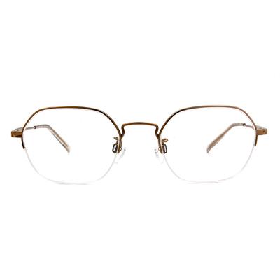 CHARMANT  知性簡約多邊型眉框眼鏡 ▏高貴金