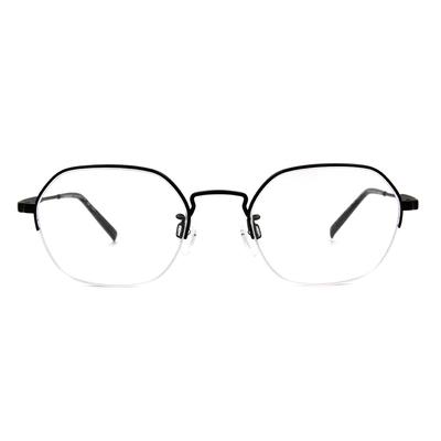 CHARMANT  知性簡約多邊型眉框眼鏡 ▏韻黑