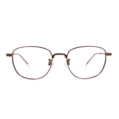 CHARMANT  學羽氣質多邊框眼鏡 ▏玫粉金