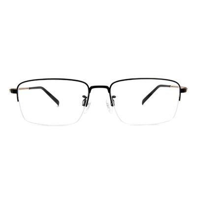 CHARMANT  透視曲線方型眉框眼鏡 ▏金緻黑