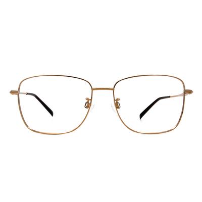 CHARMANT  雅緻紋雕大方框眼鏡 ▏華麗金