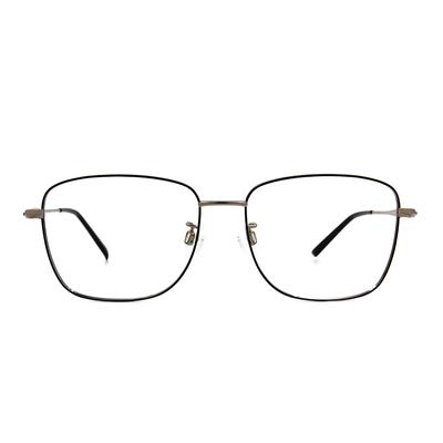 CHARMANT  雅緻紋雕大方框眼鏡 ▏鋼質灰