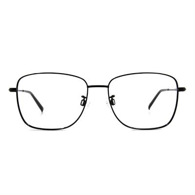 CHARMANT  雅緻紋雕大方框眼鏡 ▏知性黑