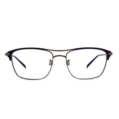 CHARMANT  復潮雙桿威靈頓框眼鏡 ▏霧藍/灰