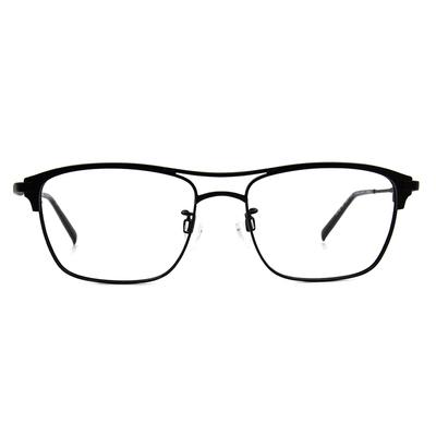 CHARMANT  復潮雙桿威靈頓框眼鏡 ▏沉穩黑