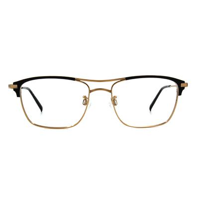CHARMANT  復潮雙桿威靈頓框眼鏡 ▏尊爵金