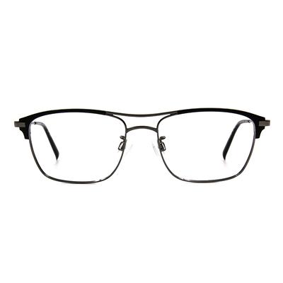 CHARMANT  復潮雙桿威靈頓框眼鏡 ▏質鐵灰