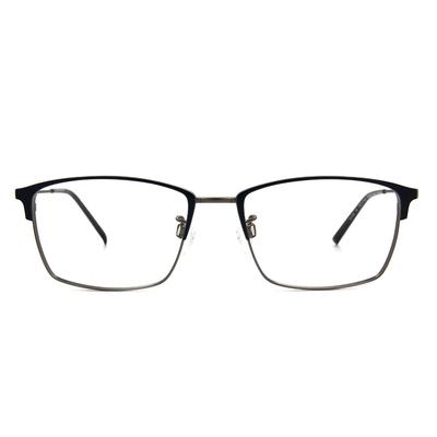 CHARMANT  專注型眉方框眼鏡 ▏都會銀