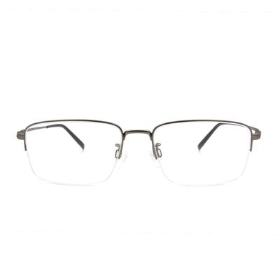 CHARMANT  透視曲線方型眉框眼鏡 ▏粹煉銀