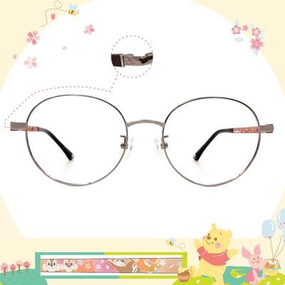 Disney花現春天│奇奇蒂蒂花花世界 圓框眼鏡✿銀/檜木咖