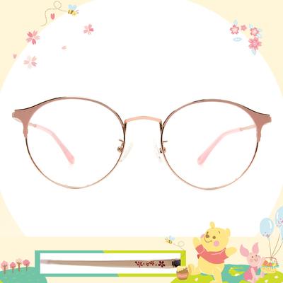 Disney花現春天│花兒紛飛 圓型眉框眼鏡✿糖霜粉