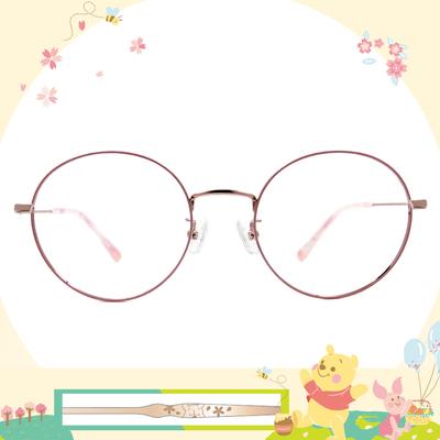 Disney花現春天│復刻維尼 圓框眼鏡✿櫻花粉
