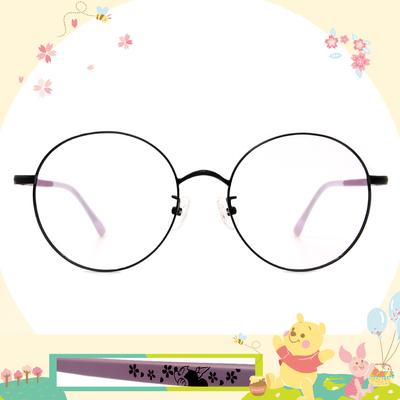 Disney花現春天│幻想米妮 圓框眼鏡✿黑/浪漫紫