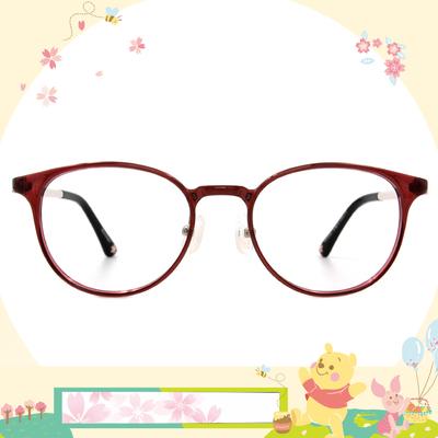 Disney花現春天│花瓣片片 波士頓框眼鏡✿蜜桃棕