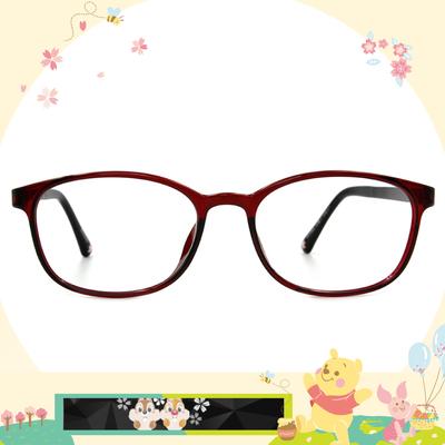 Disney花現春天│奇奇蒂蒂愛俏皮 方框眼鏡✿微醺紅