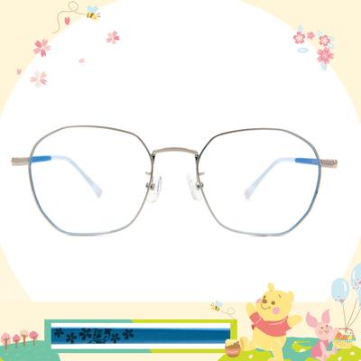Disney花現春天│俏皮米奇 多邊框眼鏡✿銀/雲朵藍