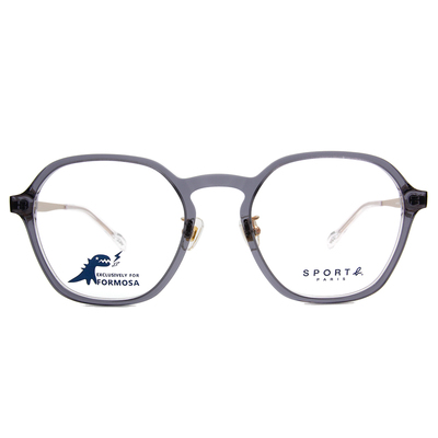 SPORT b.│金屬美學光感眼鏡方框眼鏡★灰/香檳金