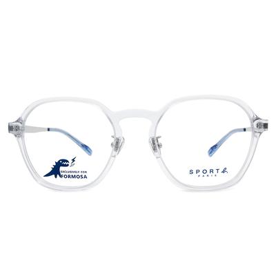 SPORT b.│金屬美學光感眼鏡方框眼鏡★光透白