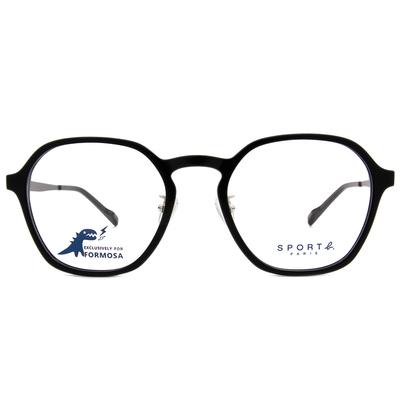 SPORT b.│金屬美學光感眼鏡方框眼鏡★音符黑