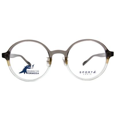 SPORT b.│調色盤經典標誌圓框眼鏡★漸層灰