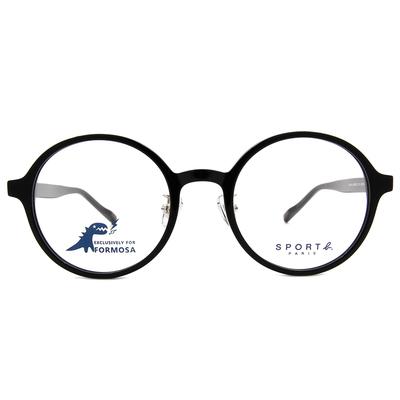 SPORT b.│調色盤經典標誌圓框眼鏡★專注黑