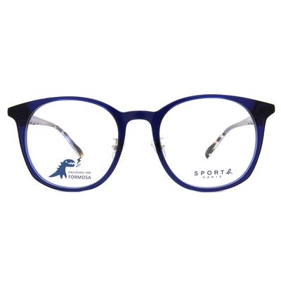 SPORT b.│深邃渲染造型貓眼框眼鏡★活力藍