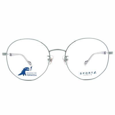 SPORT b.│極線設計百搭圓框眼鏡★光感眼鏡綠