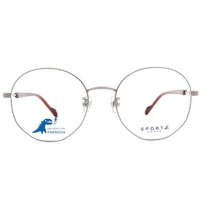 SPORT b.│極線設計百搭圓框眼鏡★深邃銀