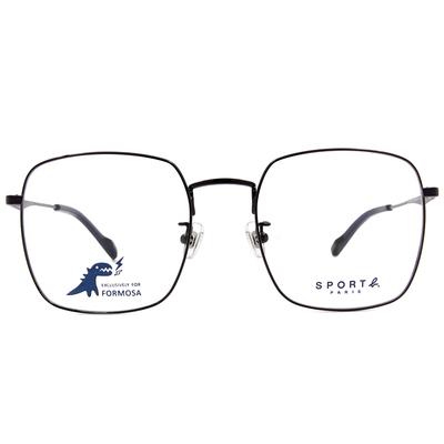 SPORT b.│沉穩學院風眼鏡大方框眼鏡★街頭黑