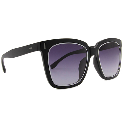 HORIEN 時尚酷炫大方框墨鏡  ☀特務黑