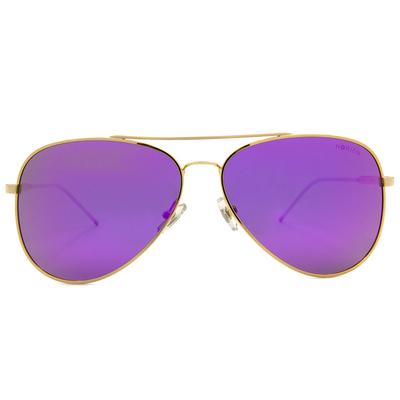 HORIEN 英式風潮雷朋款墨鏡 ☀紫耀金