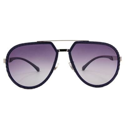HORIEN 個性織紋飛官款墨鏡 ☀風格藍