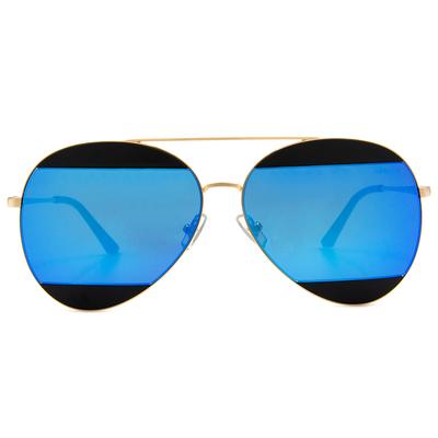 HORIEN 低調撞色飛官框墨鏡  ☀金緻藍