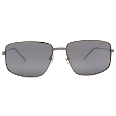 HORIEN 義式質感長方框墨鏡  ☀鋼質灰