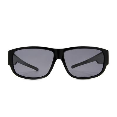 K-DESIGN 套鏡 l 簡約個性長方框眼鏡墨鏡  鋼琴黑