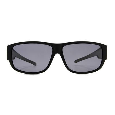 K-DESIGN 套鏡 l 簡約個性長方框眼鏡墨鏡  質感黑