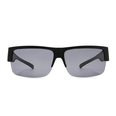 K-DESIGN 套鏡 l 領袖風眼鏡範眉框眼鏡墨鏡  素面黑