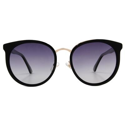 K-DESIGN 20▼俐落奢華大貓眼圓框墨鏡  氣質黑