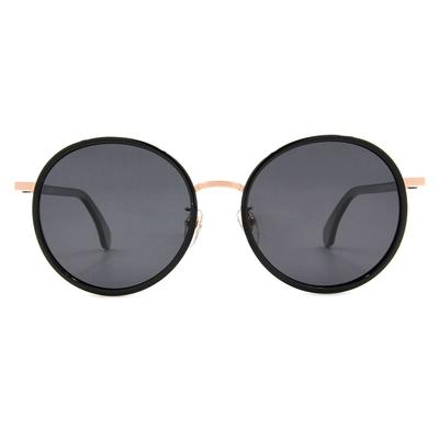 K-DESIGN 20▼摩登時代大圓框墨鏡  時尚黑