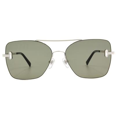 K-DESIGN 20▼邊際簍空雙桿多邊框墨鏡  叢林綠