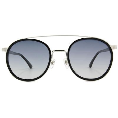K-DESIGN 20▼藍調爵士飛行套圈框墨鏡  透視黑