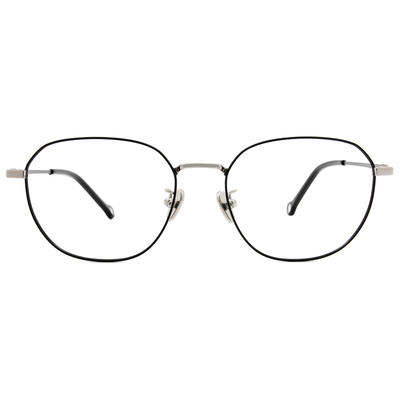 K-DESIGN KREATE 金屬光感眼鏡多邊框眼鏡🎨 潮流黑
