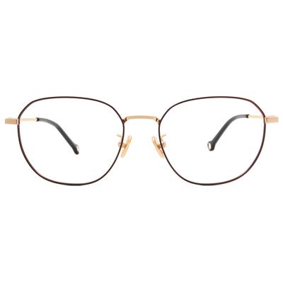 K-DESIGN KREATE l 廣告款眼鏡 l 金屬光感眼鏡多邊框眼鏡🎨 金緻咖