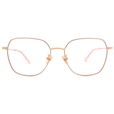 K-DESIGN KREATE 高貴淡雅大方框眼鏡🎨 奶茶粉