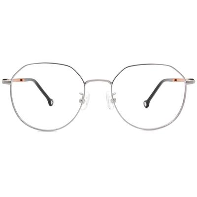K-DESIGN KREATE 輕彈個性多邊框眼鏡 🎨 銀/咖啡紫